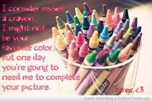 crayon, beautiful, colorful, cute, life, quote, quotes