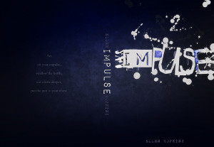 Impulse by Ellen Hopkins Cover Assignment by caffeineaddicted