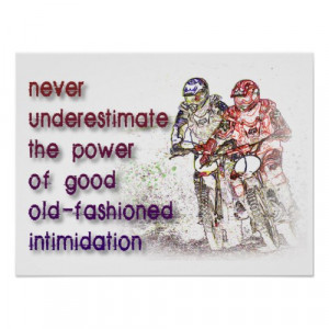 Intimidation Dirt Bike Motocross Print Poster Sign from Zazzle.com