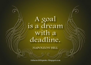 Go for your goals and dreams!