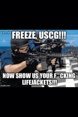 Freeze show us your life jackets