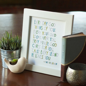God Loves You Quote by Ann Voskamp • Hand lettering • Digital ...