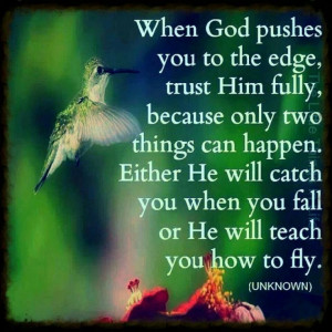 Christian quotes - Come to the edge...