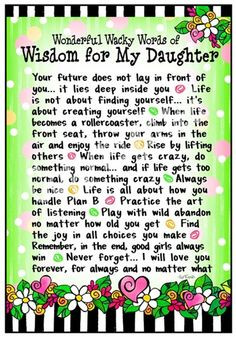 Inspirational Quotes To Your Daughter | Quotes About Daughters Love ...