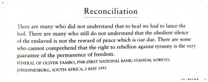 Nelson Mandela on reconciliation