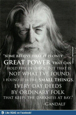 Very wise Gandalf