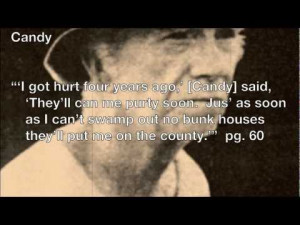 ... quotes, examples, example, characters, Candy, Curley's, wife, curleys