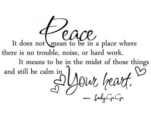 peace quotes and sayings