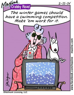 Maxine on Winter Games