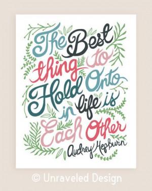 11x14-in Audrey Hepburn Quote Illustration Print