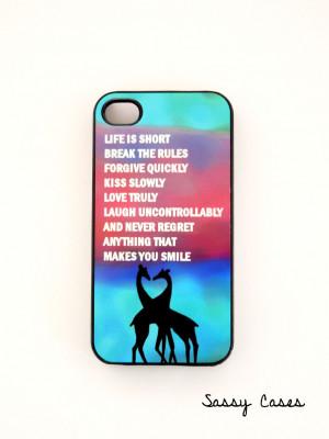 iPhone4 Case iPhone4S Case Fun Quote Plastic Case