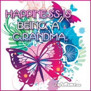 Happiness Is Being A Grandma Facebook Graphic