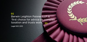 Legal 500 quote - first choice for complex tax and trusts work
