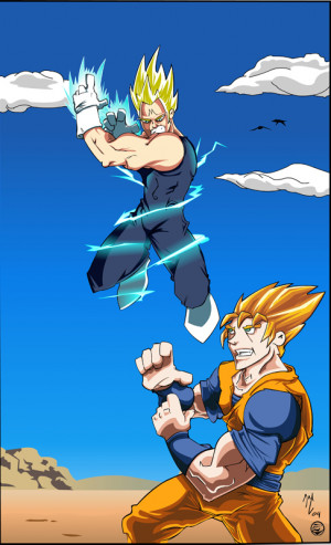 Majin Vegeta Ssj Goku Tpmde