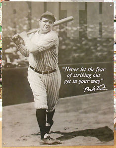 Babe-Ruth-Sports-Baseball-Quote-No-Fear-Vintage-Advertising-Tin-Sign ...