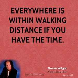 Steven Wright Time Quotes