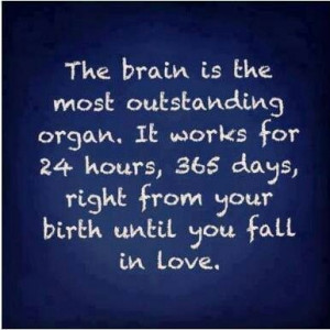 Haha! So the moment u fall in love, ur brain stops working :p