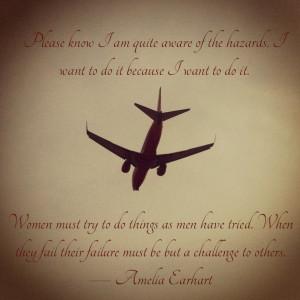 Flying Quote - Amelia Earhart