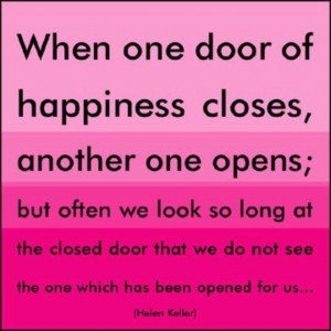 When one door closes...