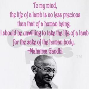 Mahatma Gandhi Vegetarian/Vegan Quote BBQ Apron