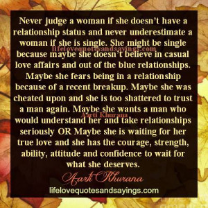Never Underestimate A Single Woman..