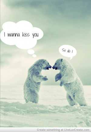 cute, love, polar bear, pretty, quote, quotes, vintage