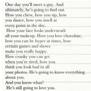 """One Day You""""ll Meet A Guy.."""
