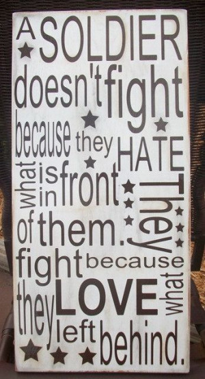 Soldiers Quote Wood Board by craftigirlcreations on Etsy, $30.00
