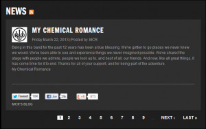 My Chemical Romance MCR broke up