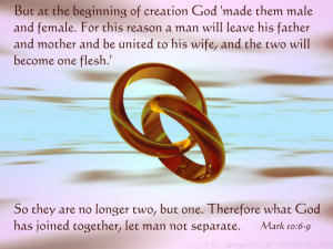 Christian marriage is a three way relationship.