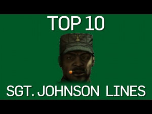 The Top 10 Sgt. Johnson Lines Video Clip