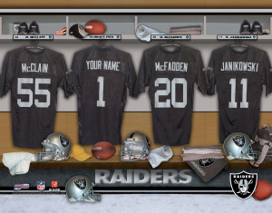 Oakland Raiders Locker Room