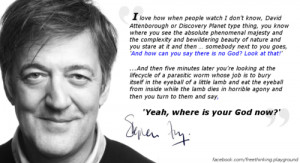 as stephen fry quote quotes atheism atheist atheists secular humanist ...