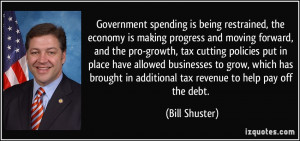 spending is being restrained, the economy is making progress ...