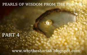 PEARLS OF WISDOM FROM THE PROPHET SERIES - PART 4