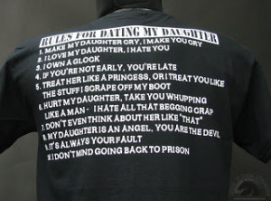 10 funny rules for dating my daughter shirt