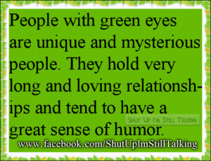 following are some facts to know about green eyed peoples