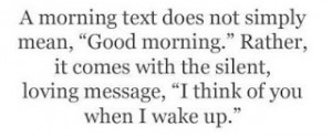 Good Morning Text Message