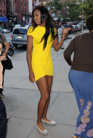 Venus Williams was recently spotted in a Stuart Weitzman Glittered ...