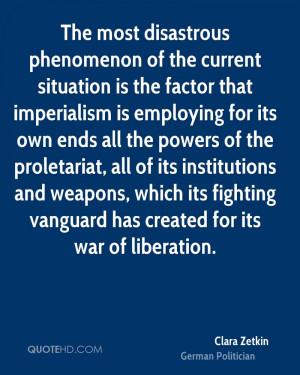 Clara Zetkin War Quotes