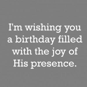 Religious Birthday Wish