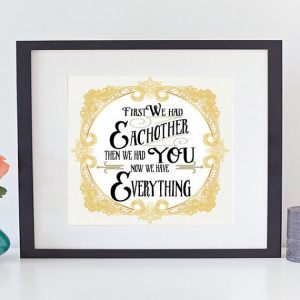 First we had each other - nursery quote -PDF on Etsy, $10.00