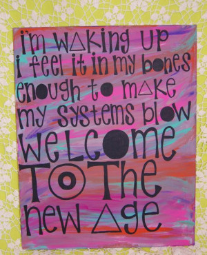Imagine Dragons Radioactive Painted Lyric Canvas by OhHeyyItsRay