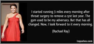 started running 3 miles every morning after throat surgery to remove ...