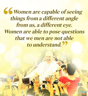 All quotes were translated to English as Pope Francis delivered it.