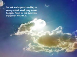 benjamin franklin, quotes, sayings, trouble, relax