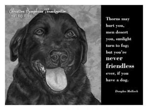 NEW Dog quote card: Black Lab / Douglas Malloch wisdom