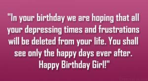 Happy Birthday Pretty Lady Quotes Happy birthday pretty girl