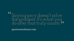 ... doesn't solve the problem. It's what you do after that truly counts