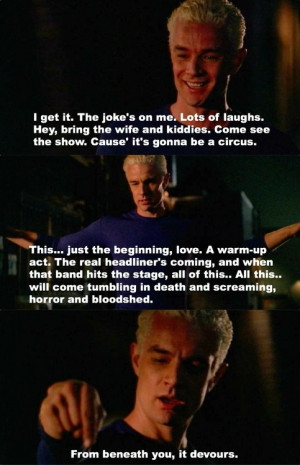 Buffy Spike Quotes Buffy the vampire slayer